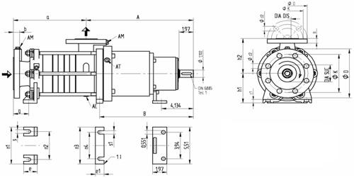 SEMA Dimension Drawings - SERO Pumps